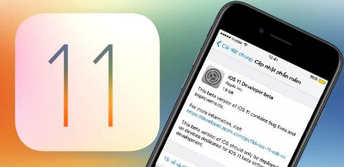 cách cập nhật lên ios 11 trên iphone
