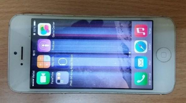 iphone bị nhòe màu