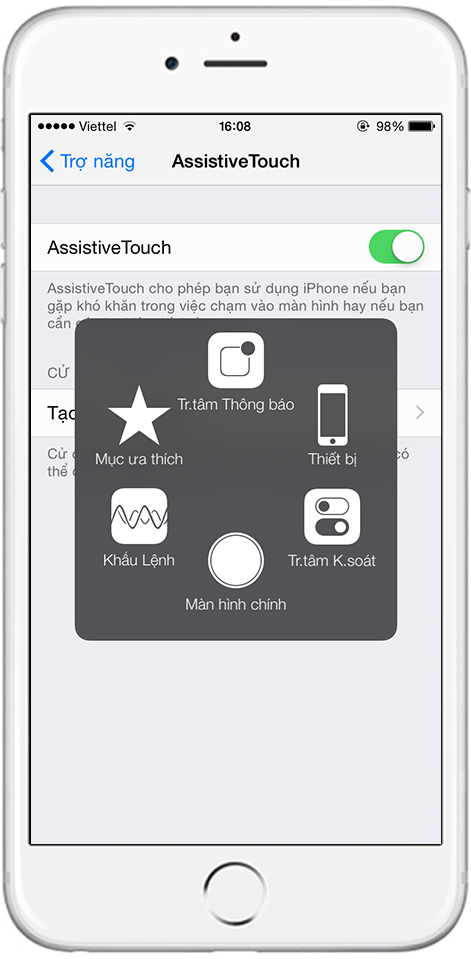 cách khắc phục nút home iphone bị liệt
