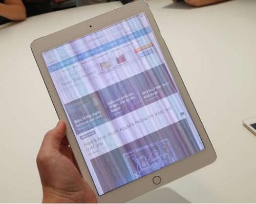 Màn hình iPad bị sọc là do đâu