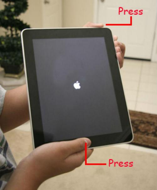 màn hình ipad bị tối đen