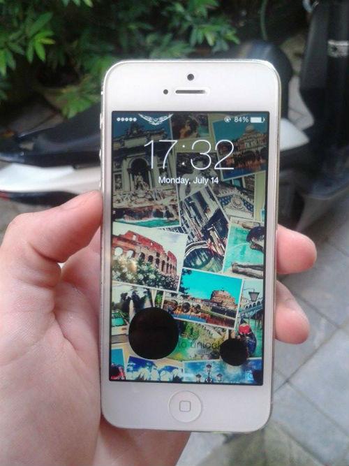 cách khắc phục màn hình điện thoại iphone bị chảy mực