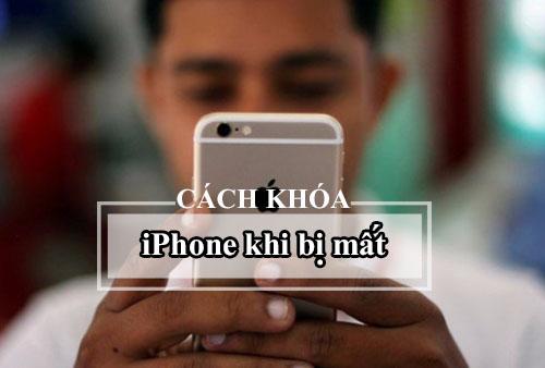 cách khóa iphone khi bị mất