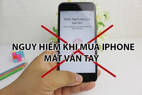 iphone bị mất vân tay có sửa được không