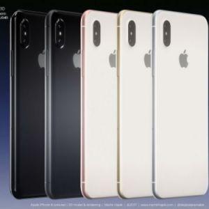 Hé lộ thêm ảnh dựng iPhone 8 đầy đủ màu sắc