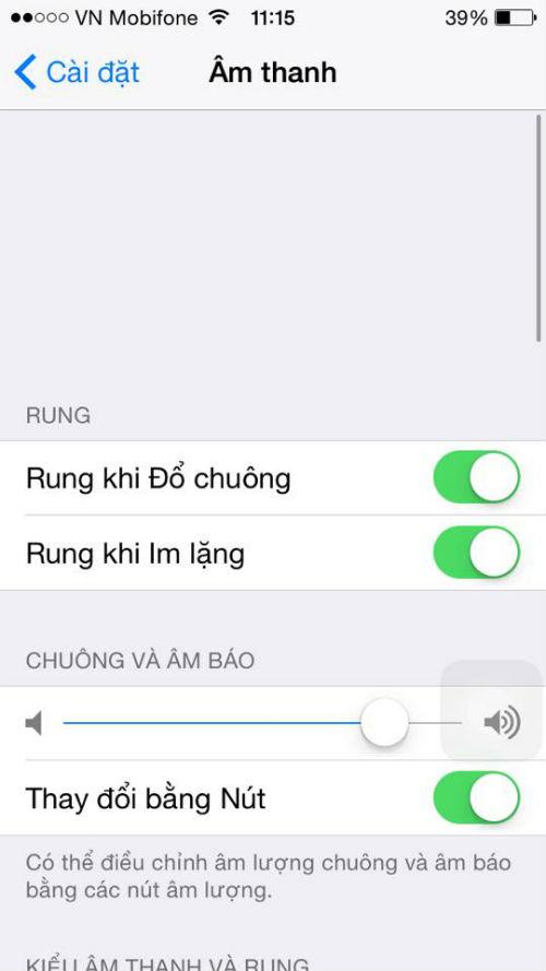 iphone 4 không có tiếng