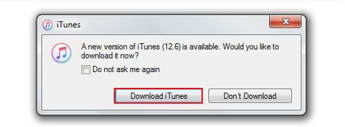 iTunes không nhận iphone