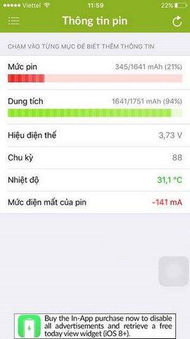 phần mềm kiểm tra pin iphone