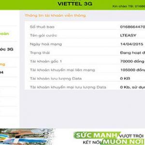 Hướng dẫn cách kiểm tra dung lượng 3g viettel trên ipad