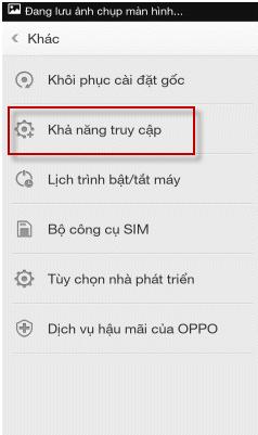 tắt chế độ Talkback trên Oppo