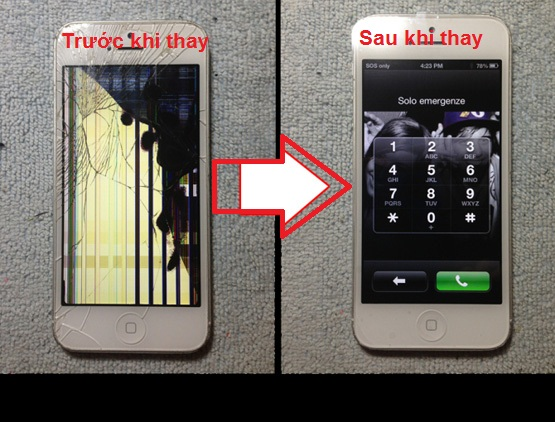 ách khắc phục màn hình điện thoại iPhone bị chảy mực