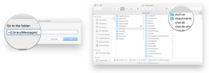 Cách khôi phục tin nhắn imessage trên iphone trên máy Mac