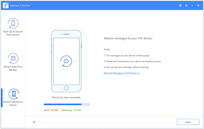 Cách khác để chỉ khôi phục tin nhắn imessage trên iPhone cho iPhone