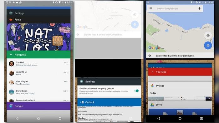 Cách kích hoạt chế độ đa nhiệm chia đôi màn hình android 9