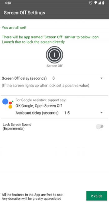 Cách mở màn hình Android không dụng nút power